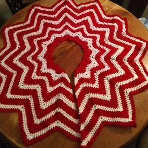 Beautiful, Handmade Crochet Christmas Tree Skirt